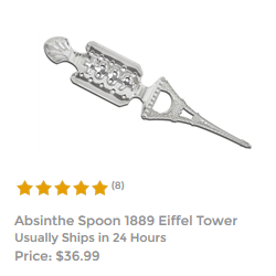 Antique 1889 Silver Absinthe Spoon