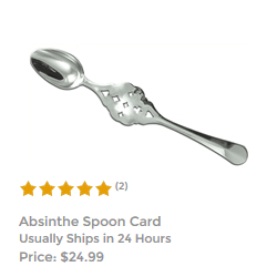 Slotted Card Absinthe Spoon