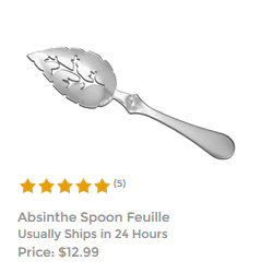 Absinthe Spoon Feuille
