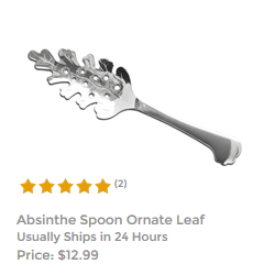 Absinthe Spoon Ornate Leaf