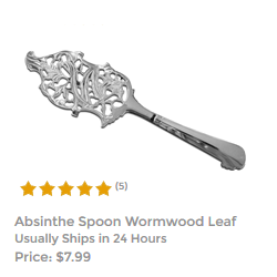 Wormwood Leaf Absinthe Spoon For Mixing Absinthe